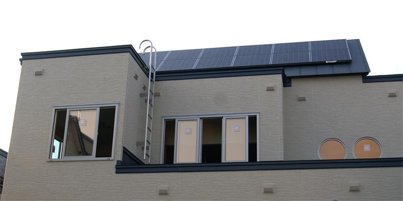 太陽光発電パネル設置例